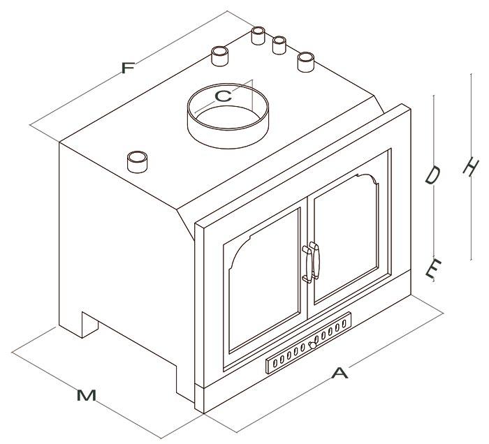 Inserti a legna - Mod. Plasma Duo - Camini & Camini - TCM
