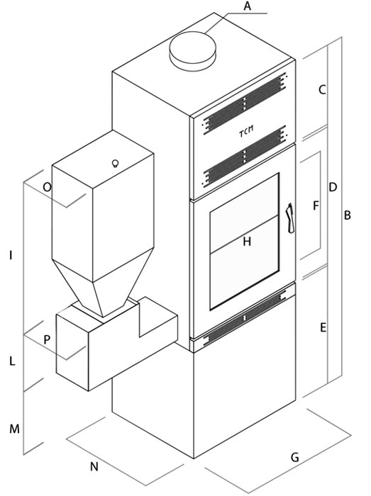 Termostufa policombustibile - Preziosa Mod. Ins - Camini & Camini - TCM