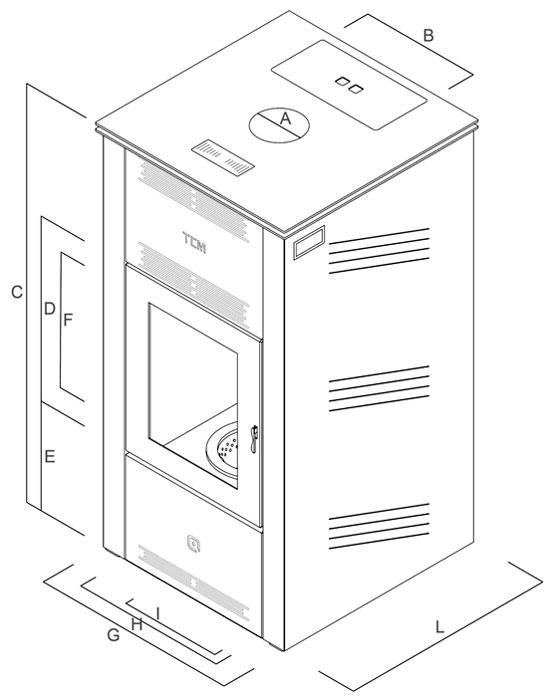 Termostufa policombustibile - Preziosa Mod. Top - Camini & Camini - TCM
